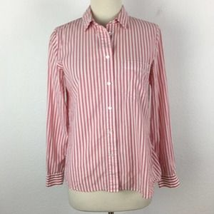 Madewell Red Stripe Button Down Shirt Small